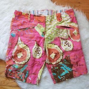 Trina Turk Paisley Print Bermuda Shorts Size 6
